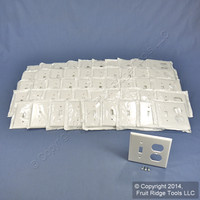 50 Leviton White Residential 2-Gang Toggle Receptacle Outlet Cover Wallplates 88005