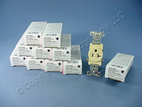10 Cooper Ivory COMMERCIAL Single Outlet Receptacles NEMA 5-20R 20A 125V 1877V