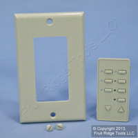 Leviton BLANK Gray Face Plate Color Change Kit For 6-Scene Decora Controller DCK6S-BG