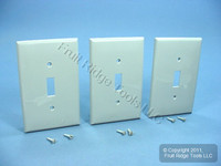 3 Leviton Gray UNBREAKABLE Midway Switch Cover Wallplates Thermoplastic Nylon Switchplates PJ1-GY