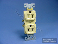 Eagle Ivory COMMERCIAL Straight Blade Outlet Receptacle NEMA 5-15 15A Bulk CR15V