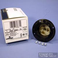 Leviton California Locking Flanged Inlet Plug Twist Lock Non-NEMA 50A 480V CS84-75