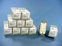 10 Leviton Almond Decora Single Pole Toggle Switch 5-15R 15A Receptacles 5625-A