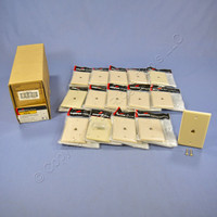 15 Cooper Ivory Flush Mount Phone Jack Wall Plates 4-Conductor Telephone 3532-4V