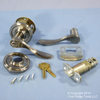 New LEFT Weslock Traditonale Bordeau 640 Weathered Pewter Keylock Lever Handle