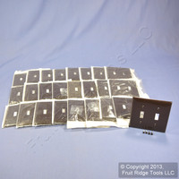 25 Leviton Brown UNBREAKABLE 2-Gang Light Switch Cover Plate Double Wallplates