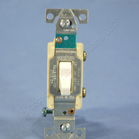 Cooper White COMMERCIAL Quiet Toggle Wall Light Switch 15A 120/277V Bulk CS115W