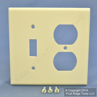 Leviton Almond Switch Plate Receptacle Outlet Cover Wallplate Switchplate 82005