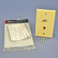 Cooper Ivory Flush Mount 4-Conductor Voice/Data Telephone Cable CATV Video Jack Wallplate 3535-4V