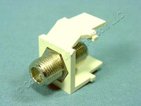 Leviton Light Almond Quickport F-Type Coaxial Video Cable Jack 75-Ohm 41084-FTF