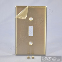 Leviton NON-MAGNETIC Mid-Size Midway Stainless Steel 1-Gang Toggle Switch Wallplate Cover SSJ1-40