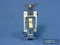 Leviton Ivory COMMERCIAL ON/OFF Toggle Light Switch Control 20A Bulk CS120-2I