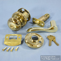 RIGHT Weslock Traditonale Impresa 640 Polished Brass Keylock Knob Bordeau Latch