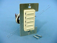 Leviton ON/OFF Preset Almond Multi-Location Scene Dimmer Switch MicroDim Fluorescent 17768-A