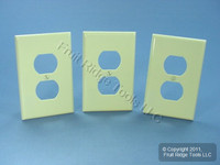 3 Leviton Ivory 1-Gang MIDWAY Receptacle Wallplates Duplex Outlet Covers 80503-I