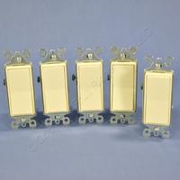 5 Leviton Almond 3-Way Decora Rocker Wall Light Switches 15A 120/277VAC Residential Grade 5603-2A