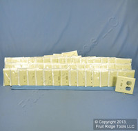 50 New Leviton Almond RESIDENTIAL Combination Switch Receptacle Wallplates 82005