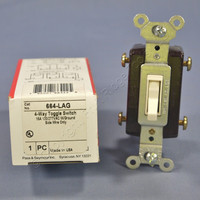 Pass and Seymour Light Almond 4-WAY COMMERCIAL Toggle Wall Light Switch 15A 664-LAG