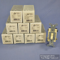 10 Leviton Ivory 4-Way COMMERCIAL Toggle Wall Light Switches 15A CS415-2I