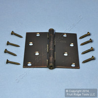 "National Hardware #V512 Antique Bronze Finish Steel 4"" Removable Pin Cabinet Door Hinge N336-826"