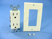 DIB Ivory Decorator Straight Blade Receptacle Duplex Outlet NEMA 5-15 15A 519745