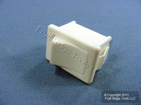 Leviton White Snap-In Mini Rocker Panel Switch ON/OFF 10A 125V Single Pole Double Throw SPDT Micro MR003