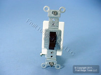 Leviton Brown COMMERCIAL Toggle Wall Light Switch Single Pole 15A CSB1-15
