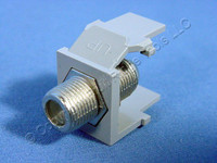 Leviton Gray Quickport Snap-In Female F-Type Coaxial Cable Jack 75-Ohm 41084-FGF