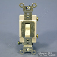 Leviton Almond COMMERCIAL ON/OFF Single Pole Toggle Light Switch 15A CS115-2A