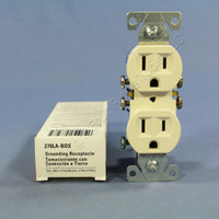 New Cooper Light Almond Residential Duplex Outlet Receptacle NEMA 5-15R 15A 270LA