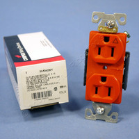 Cooper Orange ISOLATED GROUND Duplex Receptacle Outlet 5-15R 15A IG5262RN Boxed