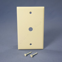 "Leviton Light Almond Phone Cable Wallplate Telephone Cover Plate .406"" Hole 78013"