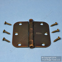"National Hardware #V512R5/8 Antique Bronze Steel Round Corner 3-1/2"" Removable Pin Cabinet Door Hinge N336-909"