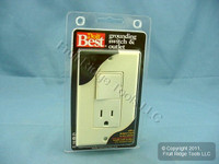 DoItBest Almond Decorator Combination Rocker Switch Outlet Receptacle 15A 552461