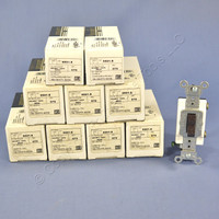 10 Brown Leviton Toggle HOSPITAL CALL Wall Light Switches Single Pole 15A 120/277V 5501-8