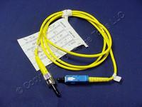 1M Leviton Fiber Optic Singlemode Simplex Patch Cable Cord SC ST SPC SPSCT-S01