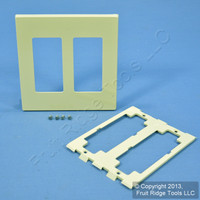 Leviton Ivory Decora SCREWLESS 2-Gang Wallplate GFCI GFI Snap-On Cover 80309-I