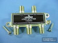 Leviton 900 MHz Leviton GOLD Plated 4-Way Video Distribution Splitter C5004