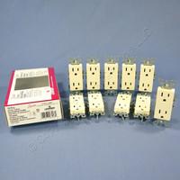 10 Leviton Almond Decora Receptacle Duplex Wall Outlet NEMA 5-15R 15A 125V 5325-AMP