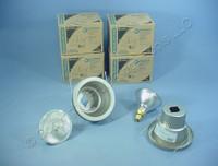 "6 New Lithonia Lighting 5"" Brushed Nickel Wet Light Recessed Finishing Trim w/ Bulb 5H20BN"