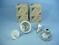 "6 New Lithonia Lighting 5"" Brushed Nickel Wet Light Recessed Finishing Trim w/ Bulb 5H20BN"