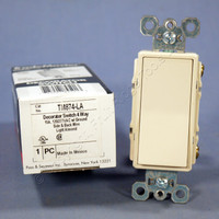 Pass & Seymour Light Almond Decorator Rocker Wall Switch 4-WAY 15A TM874-LA