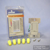 Leviton Gray Mark 10 Fluorescent TOUCH Light Dimmer Switch TPX06-1LG