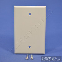 Leviton Light Almond 1G Blank MIDWAY Box Mount Plastic Wallplate Cover 80514-T
