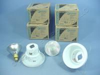 "6 New Lithonia Lighting 5"" White Wet Light Recessed Finishing Trim w/ Bulb 5H20MW"