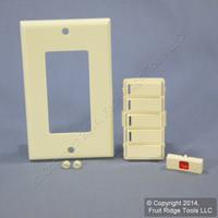 Leviton Almond Vizia RF+ 4-Button 4-Zone Controller Color Change Kit VPKIT-Z4A