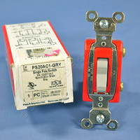 Pass & Seymour Gray INDUSTRIAL Toggle Switch 20A PS20AC1-GRY