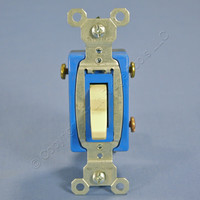 Pass & Seymour Ivory COMMERCIAL Toggle Light Switch 3-Way 15A CS315-ICC Bulk
