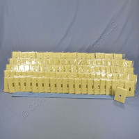 100 Cooper Ivory Standard 1-Gang Thermoset Switch Plate Wallplate Cover 2134V