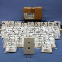 50 Leviton White Decora DUAL Phone Jacks Telephone Wall Plates 6P4C 625B3 Duplex 40944-WD
